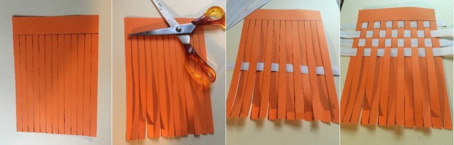 Creating a paper loom
