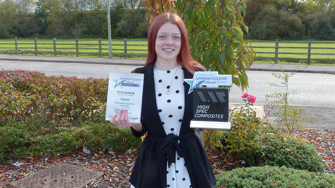 Teya Agnese wins 2020 Oxfordshire Apprenticeship Awards.png