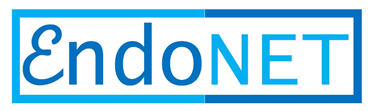 The word EndoNET in two shades of blue, in a rectangular box.